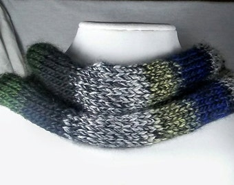 Multi-Colored Knitted Scraf/Cowl