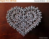 THANKSGIVING SALE Block Stamps, Tjaps, Pottery stamps, Indian Wood Stamps- Floral Heart