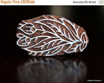 THANKSGIVING SALE Hand Carved Indian Wood Textile Stamp Block- Flower Buds Motif