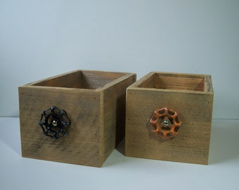 Rustic Wood Drawers, Northwest Style Home Decor, CD Storage Drawers, Home Decor Display Box Set