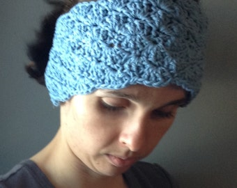 Emma Ear Muff Ear Warmer Headband Crochet Made to Order