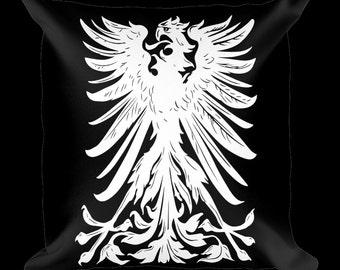 Eagle Crest Black Designer Throw Pillow