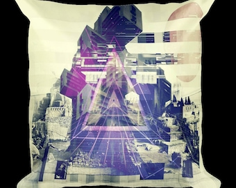 Glitch Seeing Through Designer Throw Pillow