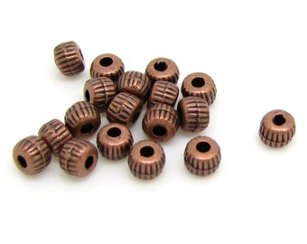 Spacer Beads : 100 pieces Antique Copper Spacer Beads | Brass Ox Bead Spacers 3.5x2.5mm ... Lead & Cadmium Free 0284.K4B