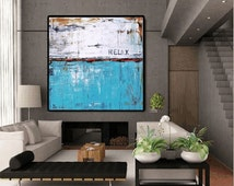 wall Art Painting wall art   abstract  painting Acrylic painting  turquoise,blue,red Wall Decor wall hangings from   Jolina Anthony