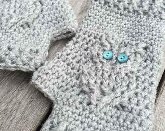 Owl Gloves Crochet Pattern