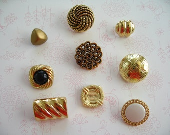 Gold Color Old Style Button Push Thumbtack, Button Push Pins, Sewing Button Decoration, Gold Color Push Pins