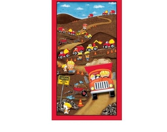 """Dig It Fabric Panel, Quilting Treasures, 24"""" W x 40"""" L"""