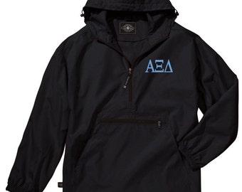 Alpha Xi Delta Unlined Anorak (Black)