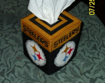 Steelers Plastic Canvas Tissue Box Cover