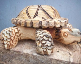 turtle bow / bowl , chainsaw carving