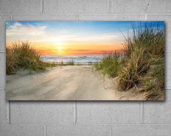 Sunrise Beach Decor, Vivid Metal Print, Coastal Art, Photography by CT Costa, Home and Office Contemporary Art, Wildwood NJ, Ready to Hang