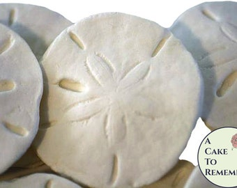 6 Edible gumpaste sand dollars for cake decorating, edible sand dollars, sugar seashells, edible seashells, ocean cakes, beach weddings