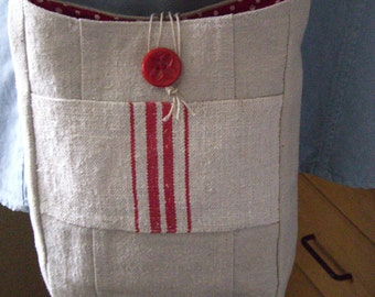 French Flea Market Tote Bag Crossbody Cottage Chic Small Purse Embellished Pouch