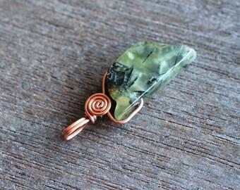 Prehnite Copper Pendant #5411