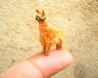 Miniature Llama - Micro Amigurumi Crochet Stuffed Animals - Made To Order