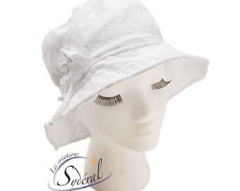 summer ladies hat, white summer hat, beach hat, women summer hat, travel hat, capeline, white capeline, white hat