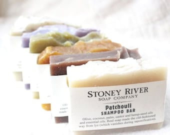 6 Shampoo bars, 4-4.5 oz each, labeled or unlabeled