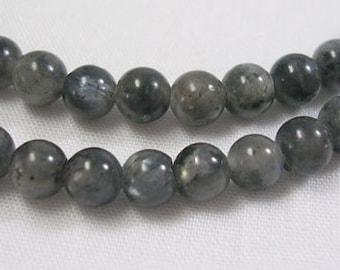 Norwegian Labradorite Gemstone Beads 4mm Strand, Natural, Round