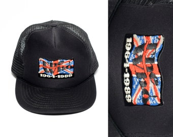 vintage 80s The Who trucker hat Union Jack 1964-1989 The Kids Are Alright celebrating 25 years Tour 1989 the who baseball snapback cap