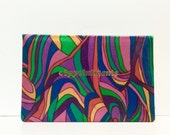 Vintage 1960s Pucci style Appointment book, Made in Japan, psychedelic pink orange green and blue