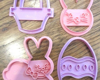 Wilton Cookie Cutter Easter Inspired Basket Bunny and Egg