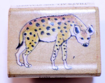 That's All She Stamped Cheetah Wooden Rubber Stamp