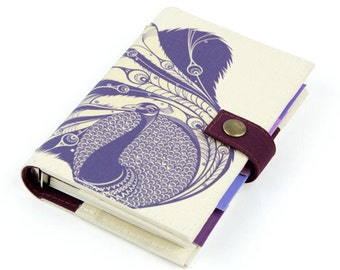 Peacock, Personal Planner, Personal organizer, Planner, Organizer, student, calendar, weekly, agenda, monthly, daily, notebook, handmade