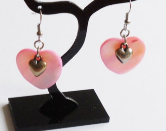 Shell heart earrings