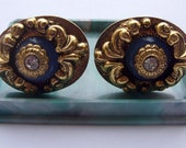 Rare Vintage Russian Soviet IRON cufflinks coated with Anodizing USSR native BOX