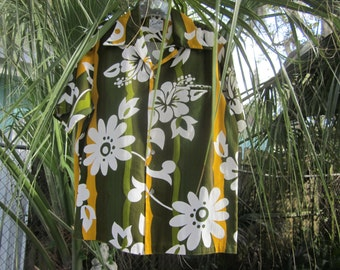 "hawaiian shirt, mens shirt, 48"" chest. hawaii,,,heavy cotton"