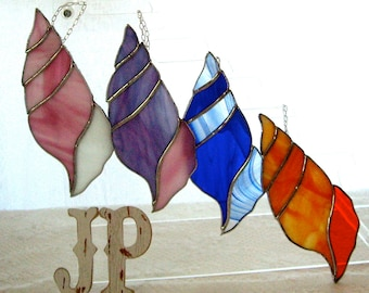 Sea Shells by the Sea Stained glass Suncatcher