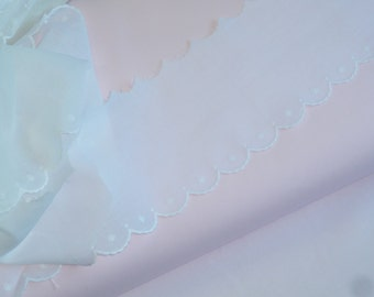 White Scalloped Swiss Embroidered Edging