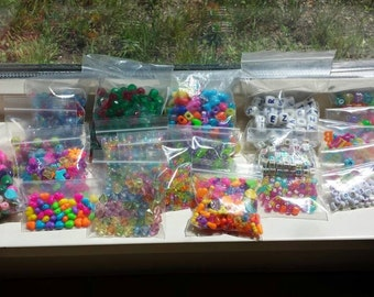 Huge Lot Plastic Beads Letters