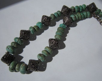 Bali Silver & Turquoise Necklace