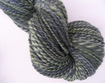 Handspun Yarn Gently Thick and Thin - Handpainted Superwash Merino Wool Yarn, dk weight yarn