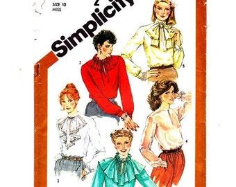 Simplicity 5200 Misses Blouses Size 10 Bust 32 1/2 Vintage 1981 Uncut- 3