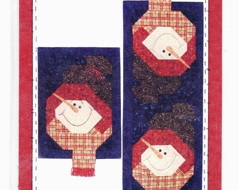 "Prairie Grove Peddler ""Let it Snow"" Table Runner and Wall Hanging"