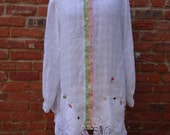 Upcycled Shirt,Boho Shirt,Victorian Shirt,Cottage Chic Shirt,Size 1X Shirt,Nine Muses Of Crete