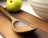 OOAK hand carved wooden spoon kitchen utensil of salvaged Mesquite wood from Texas