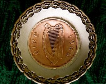 Irish Harp Copper Coin Spoon Coffee Scoop