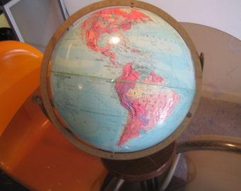 Vintage 1960s Replogle Stereo Relief World Globe