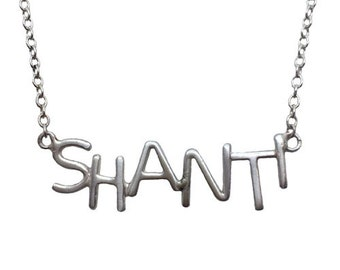 Sterling Silver SHANTI necklace