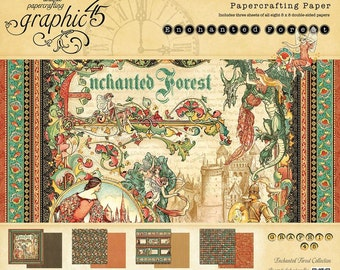"""Graphic 45 """"Enchanted Forest"""" 8x8 Paper Pad"""