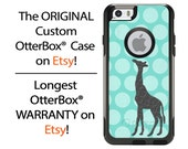 iPhone OtterBox Commuter Case for iPhone 6/6s, 6 Plus/6s Plus, 5/5s, 5c, 4/4s, Galaxy S6 S5 S4 Note 5 4 Custom Giraffe Polka Dots Phone Case
