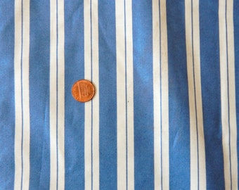 "Blue White Striped Polished Fabric 55"" wide BTY Kravet Fabrics Yardage"