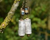 BOHO FESTIVAL EARRINGS, hippie jewellery, boho chic, tribal style, silk earrings, vintage fabric, ethnic earrings, dangle earrings