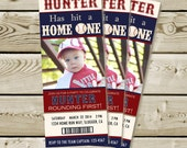 Baseball Ticket Party Invite (Printable)