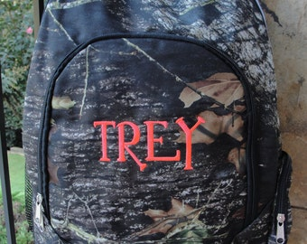SALE - Camouflage Backpack with monogram - Back to School