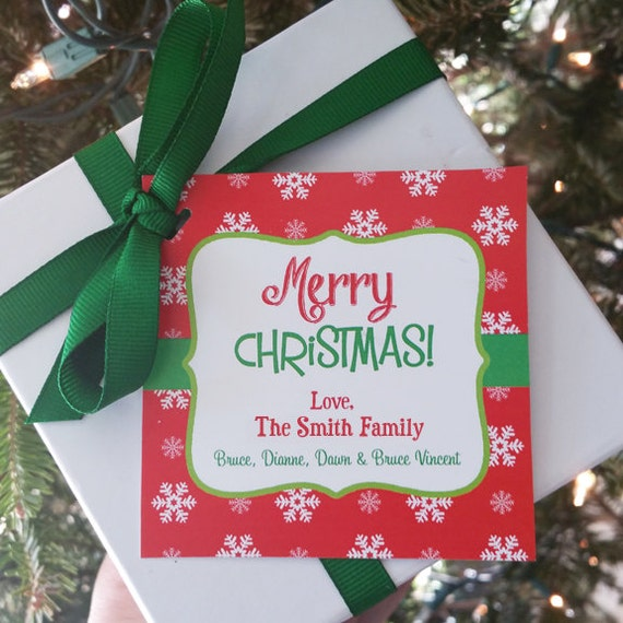 Personalized Christmas Gift Tags: Personalized Christmas Gift Tags Printable Or Printed With
